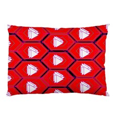 Red Bee Hive Background Pillow Case (Two Sides)