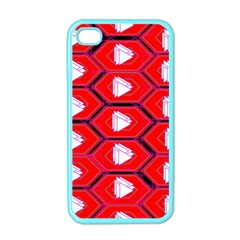Red Bee Hive Background Apple iPhone 4 Case (Color)