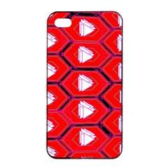 Red Bee Hive Background Apple Iphone 4/4s Seamless Case (black)