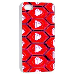 Red Bee Hive Background Apple Iphone 4/4s Seamless Case (white)