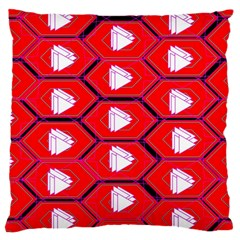 Red Bee Hive Background Large Cushion Case (Two Sides)