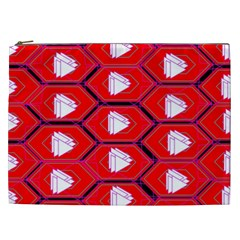 Red Bee Hive Background Cosmetic Bag (xxl)