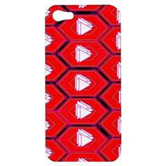 Red Bee Hive Background Apple Iphone 5 Hardshell Case