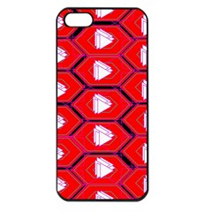 Red Bee Hive Background Apple iPhone 5 Seamless Case (Black)