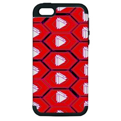 Red Bee Hive Background Apple Iphone 5 Hardshell Case (pc+silicone)
