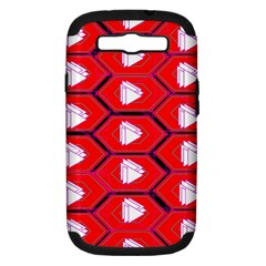 Red Bee Hive Background Samsung Galaxy S Iii Hardshell Case (pc+silicone)