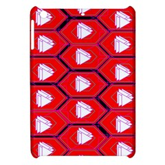 Red Bee Hive Background Apple iPad Mini Hardshell Case