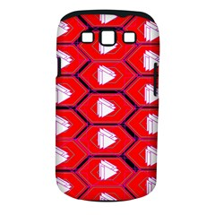 Red Bee Hive Background Samsung Galaxy S III Classic Hardshell Case (PC+Silicone)