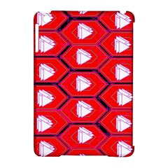 Red Bee Hive Background Apple Ipad Mini Hardshell Case (compatible With Smart Cover)