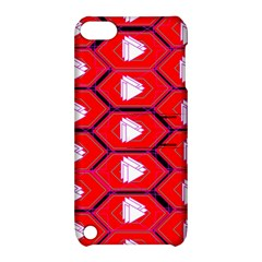 Red Bee Hive Background Apple Ipod Touch 5 Hardshell Case With Stand
