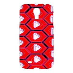 Red Bee Hive Background Samsung Galaxy S4 I9500/i9505 Hardshell Case