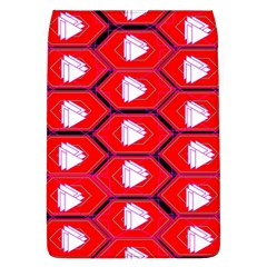 Red Bee Hive Background Flap Covers (L)