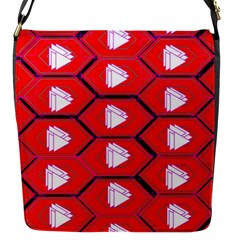 Red Bee Hive Background Flap Messenger Bag (s)