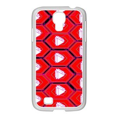 Red Bee Hive Background Samsung GALAXY S4 I9500/ I9505 Case (White)