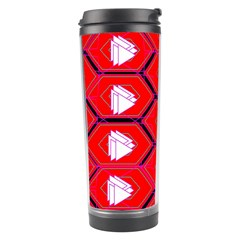 Red Bee Hive Background Travel Tumbler