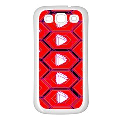 Red Bee Hive Background Samsung Galaxy S3 Back Case (White)