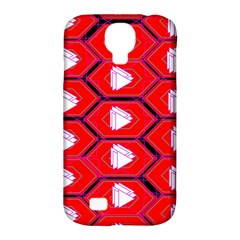 Red Bee Hive Background Samsung Galaxy S4 Classic Hardshell Case (pc+silicone)