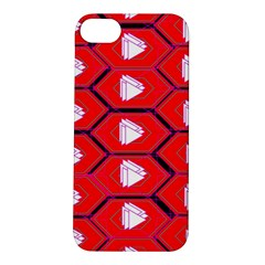 Red Bee Hive Background Apple iPhone 5S/ SE Hardshell Case