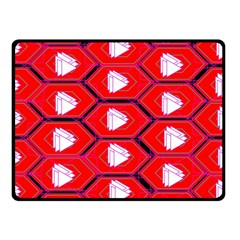 Red Bee Hive Background Double Sided Fleece Blanket (small)