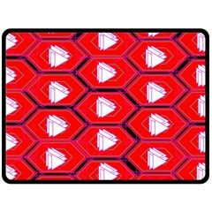 Red Bee Hive Background Double Sided Fleece Blanket (large)