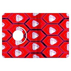 Red Bee Hive Background Kindle Fire HDX Flip 360 Case