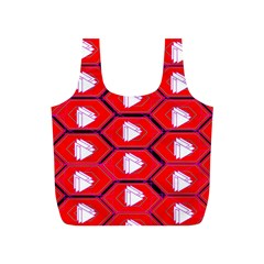 Red Bee Hive Background Full Print Recycle Bags (s)