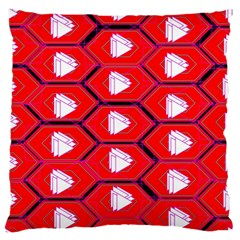 Red Bee Hive Background Large Flano Cushion Case (One Side)