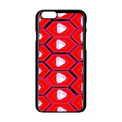 Red Bee Hive Background Apple Iphone 6/6s Black Enamel Case