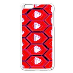 Red Bee Hive Background Apple iPhone 6 Plus/6S Plus Enamel White Case