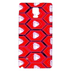 Red Bee Hive Background Galaxy Note 4 Back Case