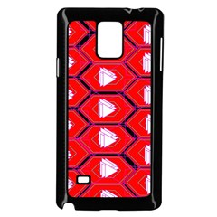 Red Bee Hive Background Samsung Galaxy Note 4 Case (black)
