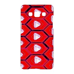 Red Bee Hive Background Samsung Galaxy A5 Hardshell Case