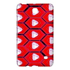 Red Bee Hive Background Samsung Galaxy Tab 4 (8 ) Hardshell Case