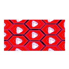Red Bee Hive Background Satin Wrap