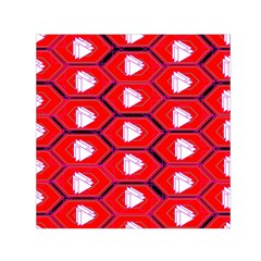 Red Bee Hive Background Small Satin Scarf (Square)