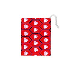 Red Bee Hive Background Drawstring Pouches (XS)