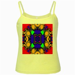 Digital Kaleidoscope Yellow Spaghetti Tank