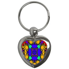 Digital Kaleidoscope Key Chains (Heart)