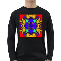 Digital Kaleidoscope Long Sleeve Dark T-Shirts