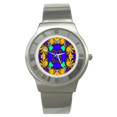 Digital Kaleidoscope Stainless Steel Watch