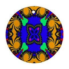 Digital Kaleidoscope Round Ornament (two Sides)