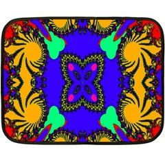 Digital Kaleidoscope Double Sided Fleece Blanket (mini)