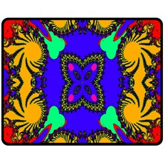 Digital Kaleidoscope Fleece Blanket (Medium)