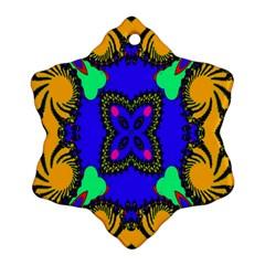 Digital Kaleidoscope Snowflake Ornament (two Sides)