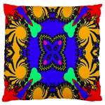 Digital Kaleidoscope Large Cushion Case (Two Sides) Back
