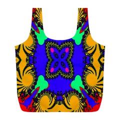 Digital Kaleidoscope Full Print Recycle Bags (L)