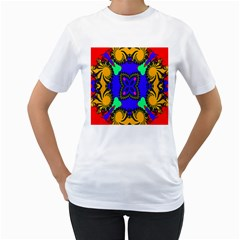 Digital Kaleidoscope Women s T-Shirt (White)
