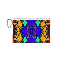 Digital Kaleidoscope Canvas Cosmetic Bag (S)