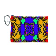 Digital Kaleidoscope Canvas Cosmetic Bag (m)