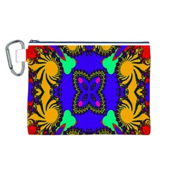 Digital Kaleidoscope Canvas Cosmetic Bag (l)